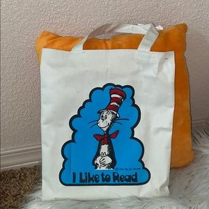 I like to read Tote Bag Vintage Dr Suess